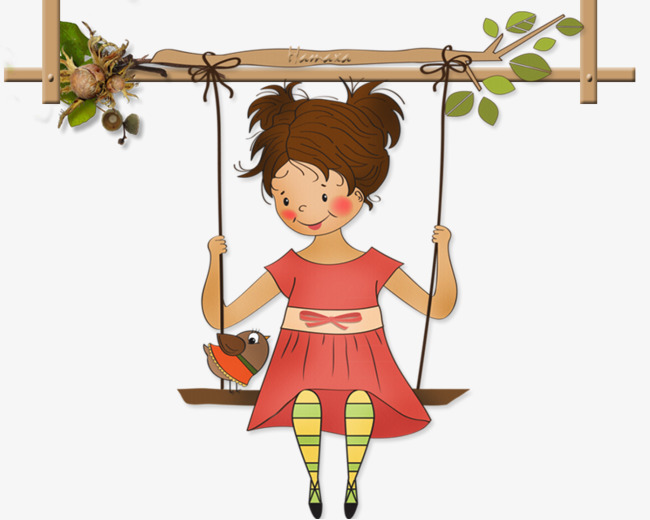 Girl on swing clipart 6 » Clipart Station.