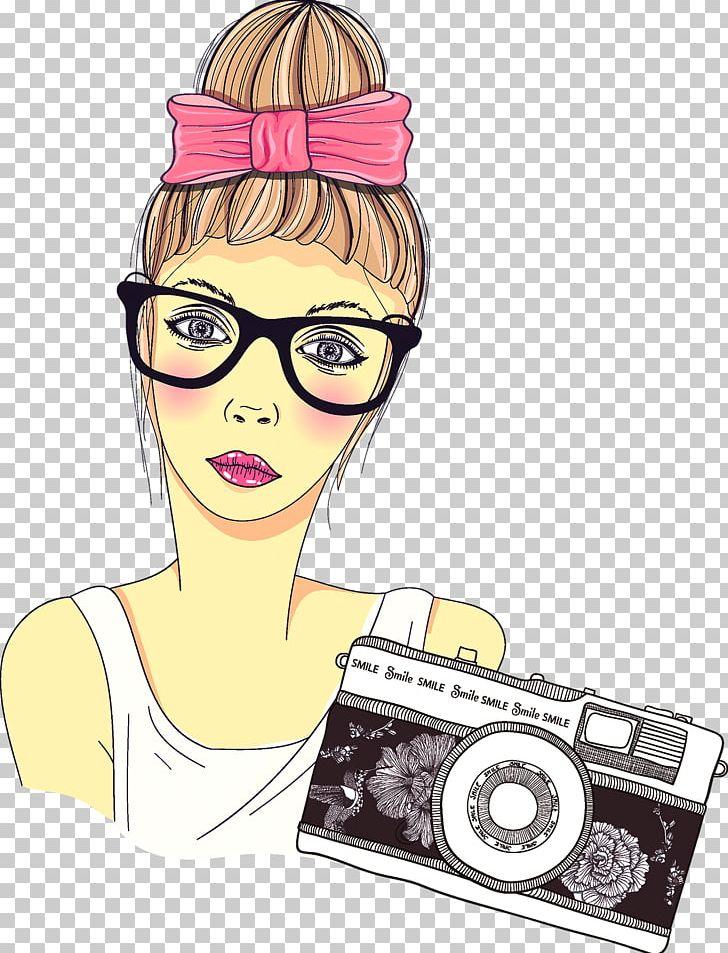Cartoon Photographer Photography Girl PNG, Clipart, Art.
