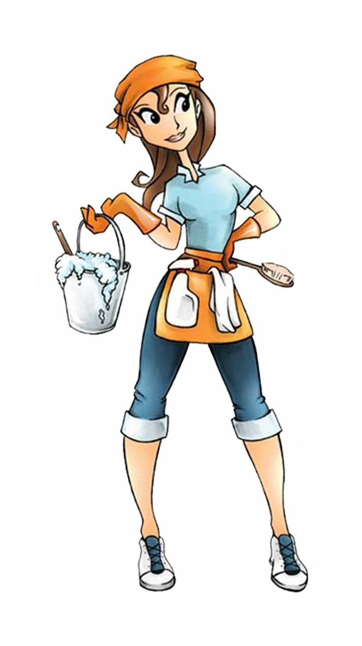 Cleaning Girl Clipart.