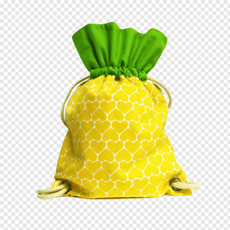 Girl, Pineapple, Drawstring, Food, Lunchbox, Kuih, Bag.