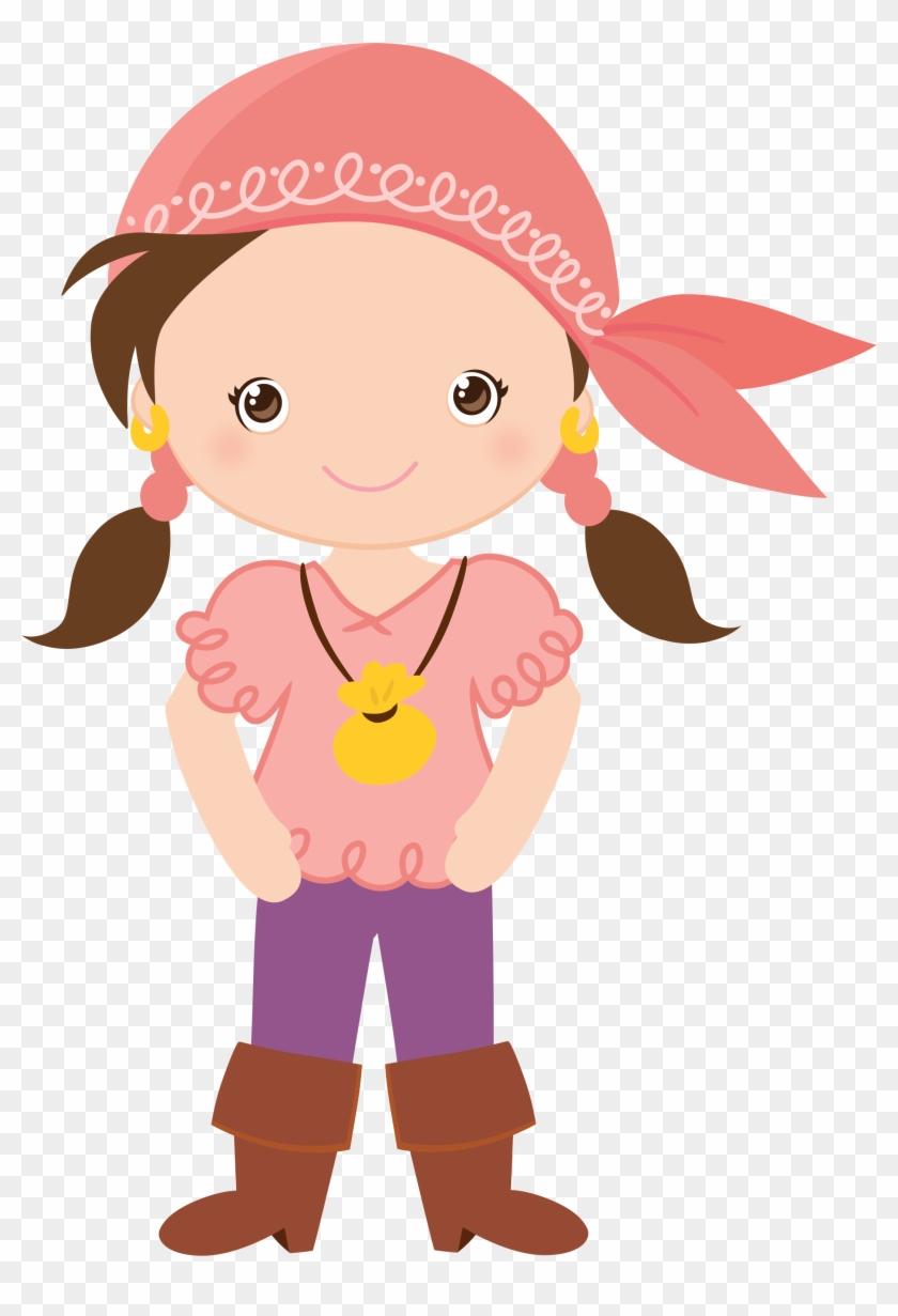 Pirate Girl Clip Art.