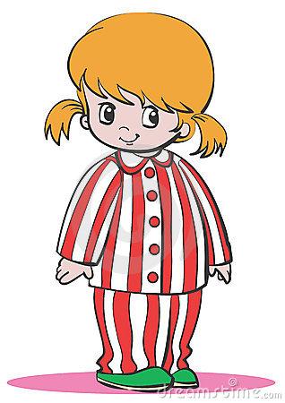 Girl Pajamas Clipart.