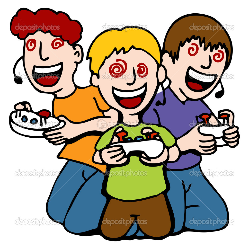 girl play video games clipart - Clipground