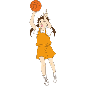 Girl playing basketball clipart, cliparts of Girl playing basketball.