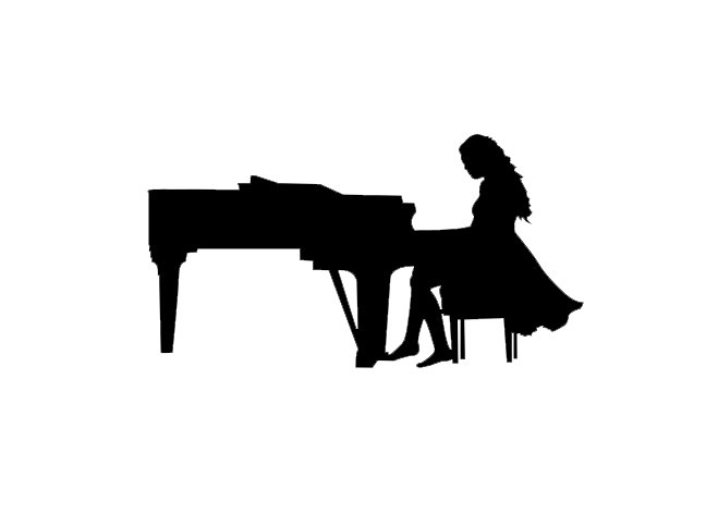 Girl playing piano.