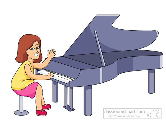 Playing Piano Clipart#2163707.