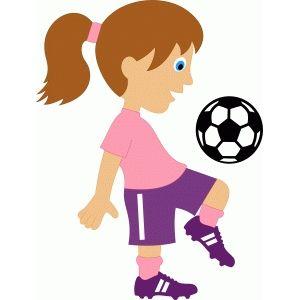 Girl soccer player.