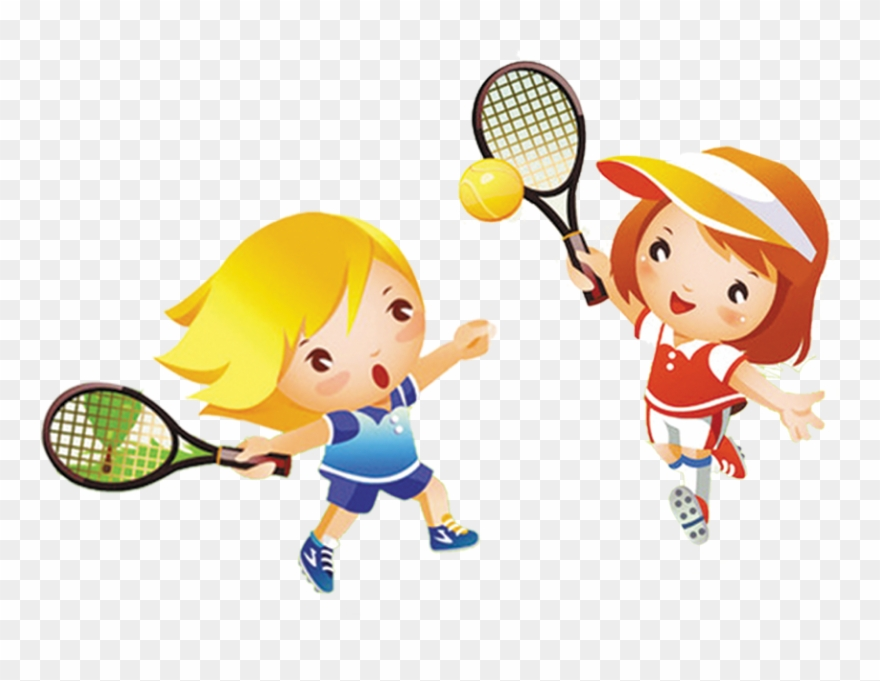 Tennis Girl Play Child Clip Art.