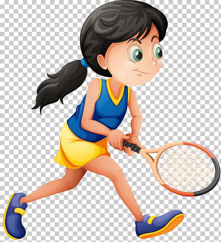Tennis Play Stock photography , Girl playing tennis PNG.