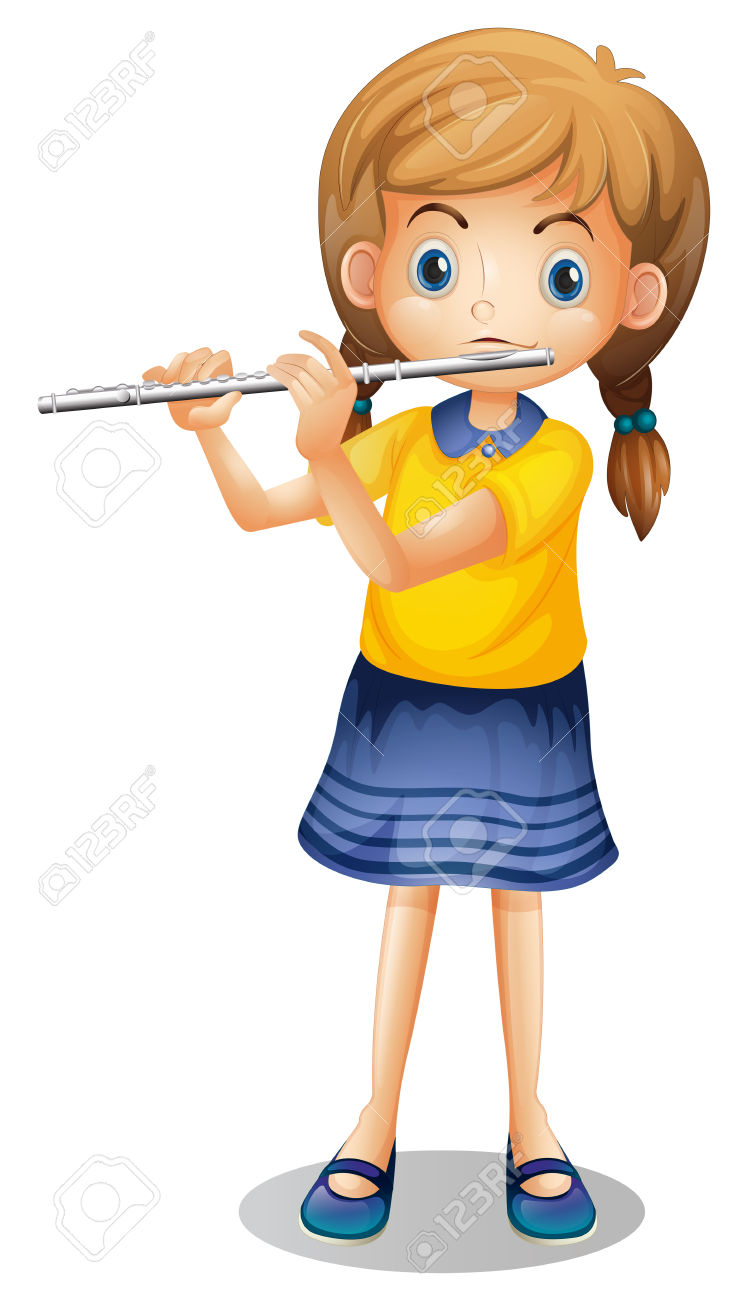 girl playing the flute clipart - Clipground
