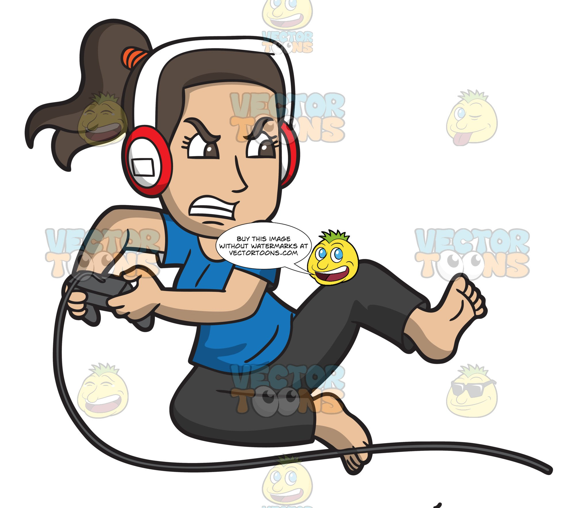 A Frustrated Woman Playing Video Games.