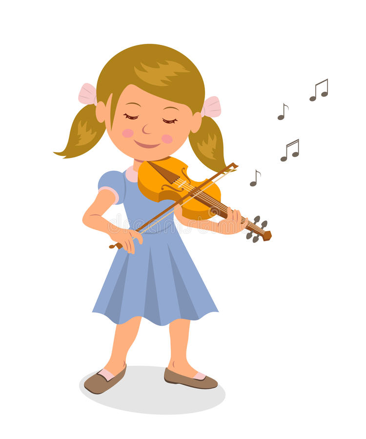 Girl Playing Violin Clipart.