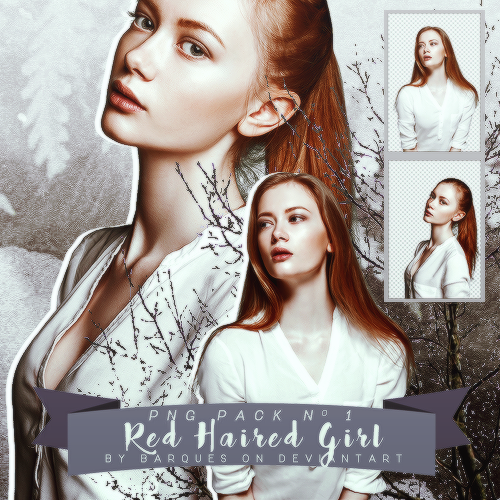 PNG Pack No 1 :: Red Haired Girl by barques on DeviantArt.