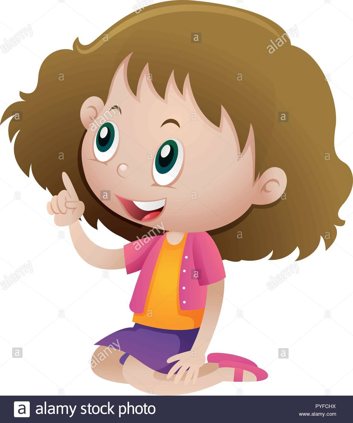 Girl pointing flowers clipart 6 » Clipart Portal.
