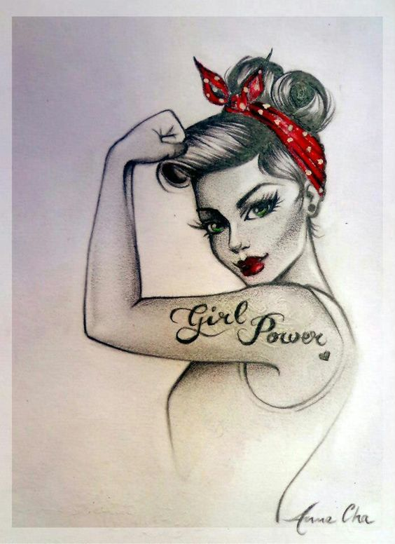 Girl Power Clip Art.