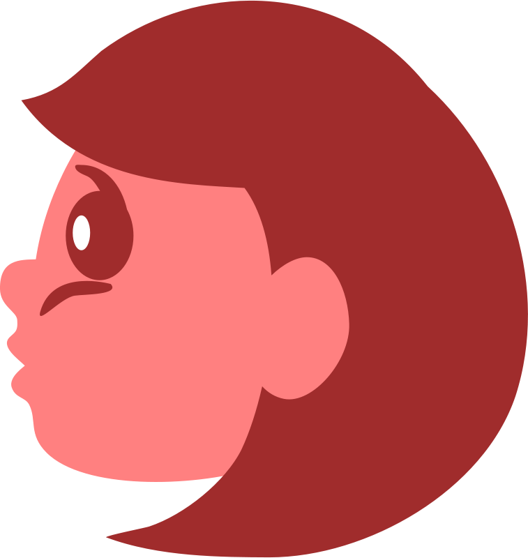 Free Clipart: Girl profile.