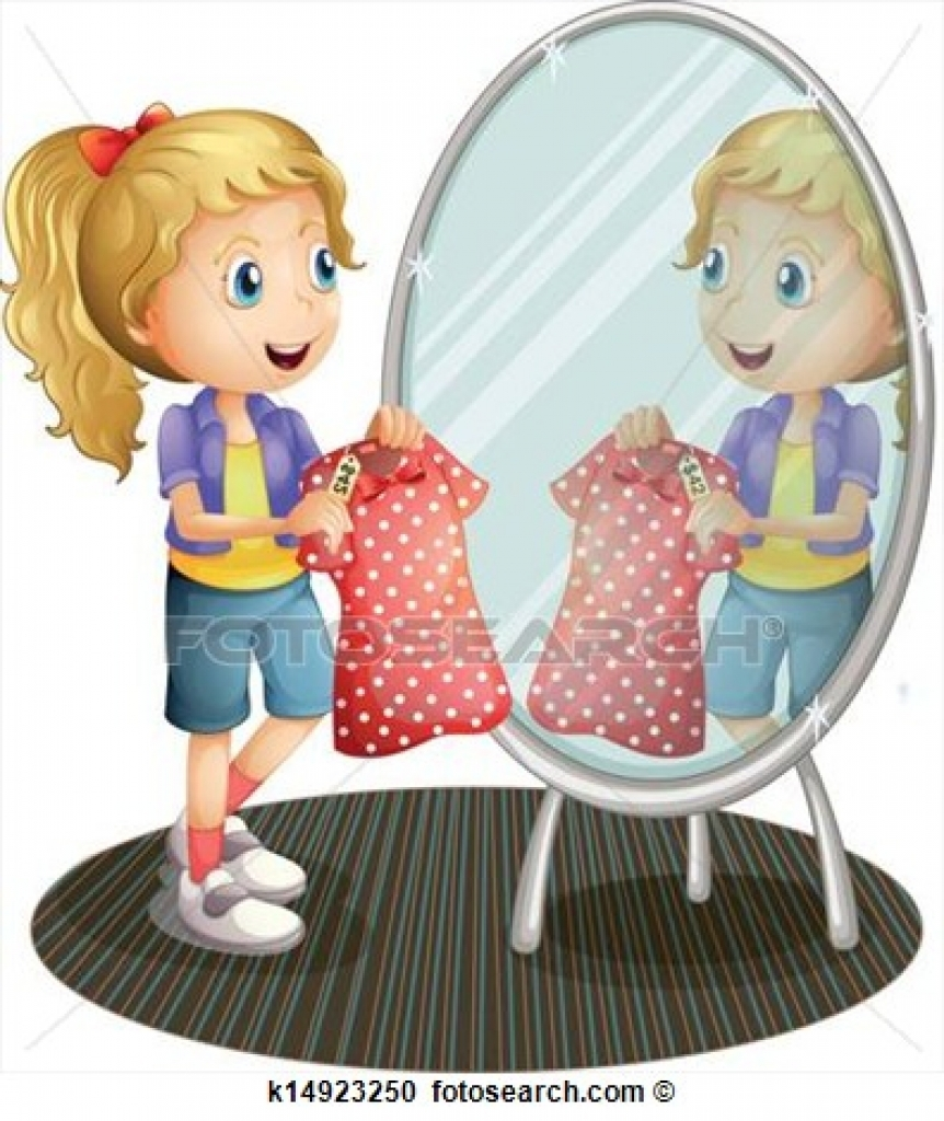 Girl Putting On Clothes Clipart Girl.