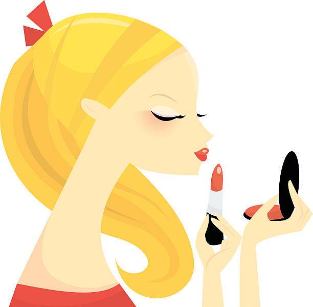 Best Girl Putting On Makeup Illustrations, Royalty.