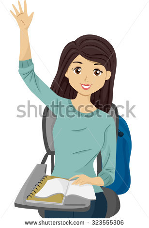 Girl Raising Her Hand Pictures to Pin on Pinterest.