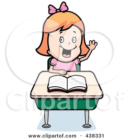 Clip Art Student Raising Her Hand Clipart#2008068.