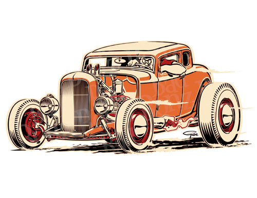 Hot Rod Pin Up Girls Drawings.