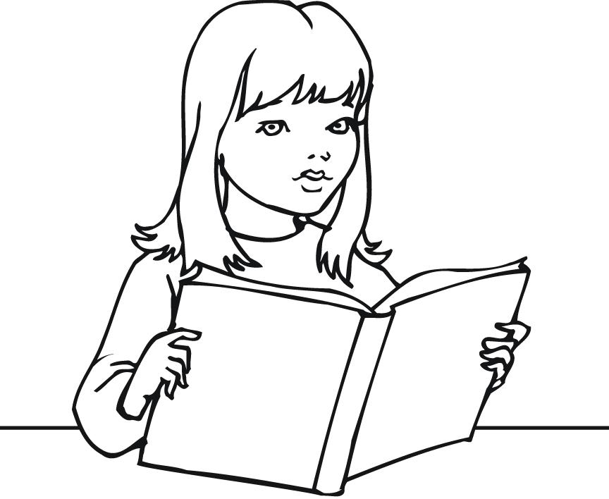 Free Girl Reading A Book Clipart, Download Free Clip Art.