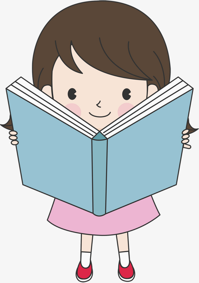 Download Free png Reading Girl, Reading Clipart, Hand, Blue Book PNG.