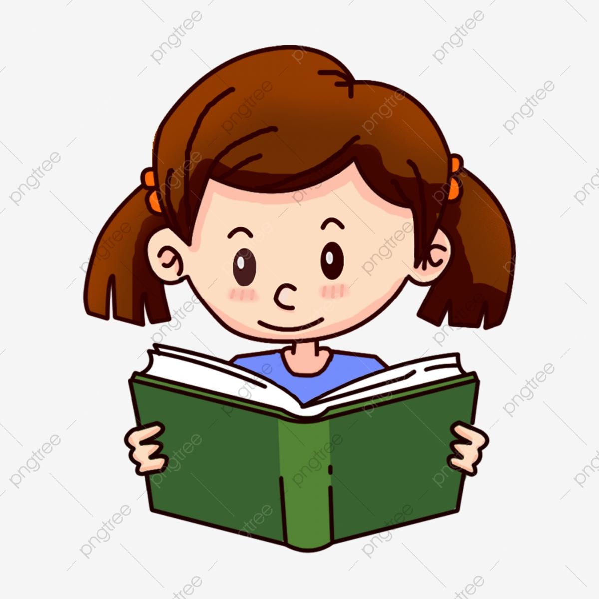 Tummy Reading Little Girl Vector, Reading Clipart, Girl, Reading PNG.