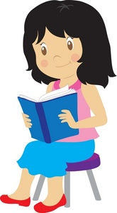 Girl reading clipart 7 » Clipart Station.