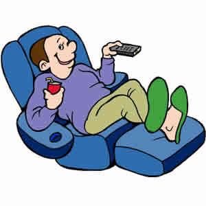 Clip Art Of A Man In A Reclining Chair #l7QDkb.