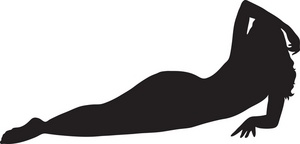 Woman Reclining Clipart Image.