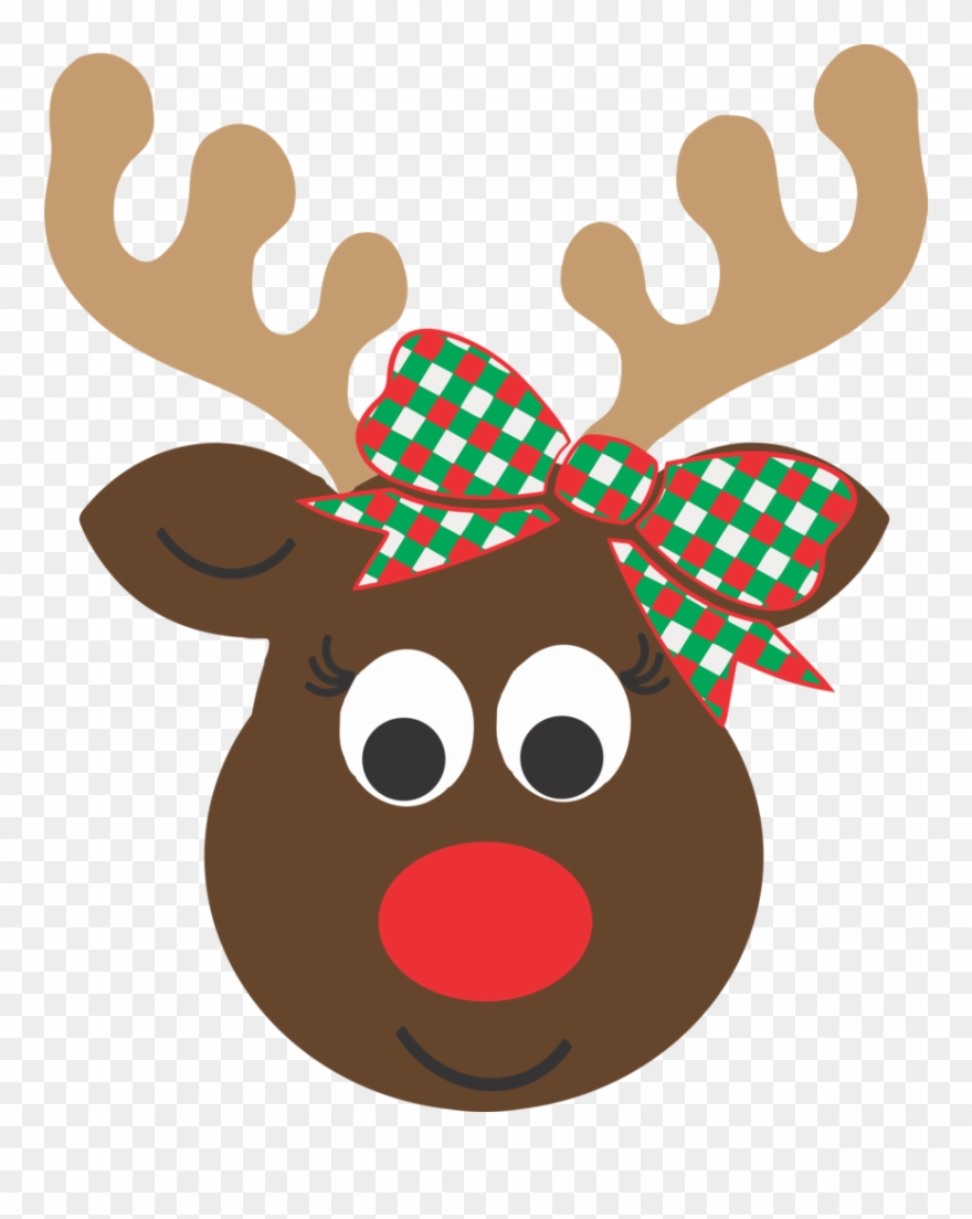 Girl Reindeer Head.