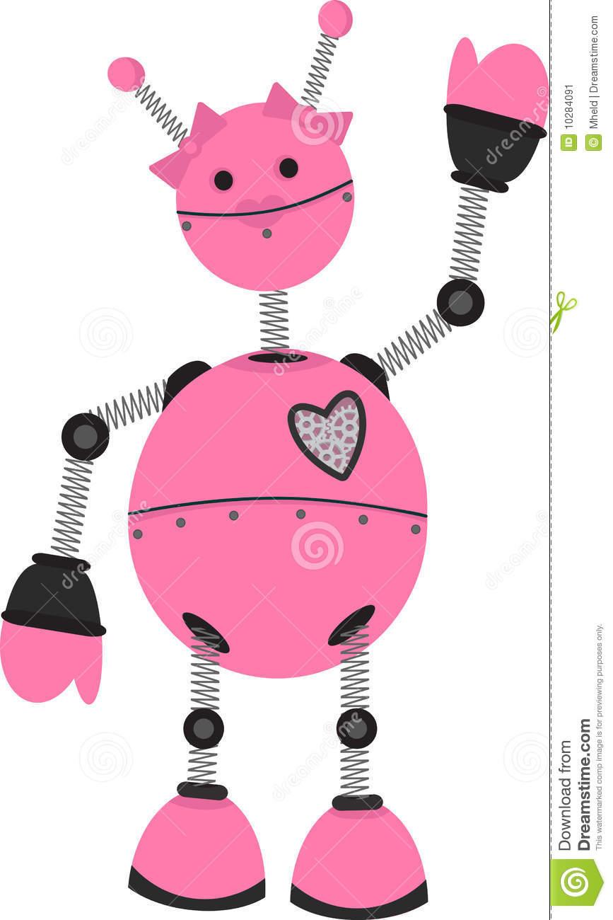 Girl Robot Clipart.