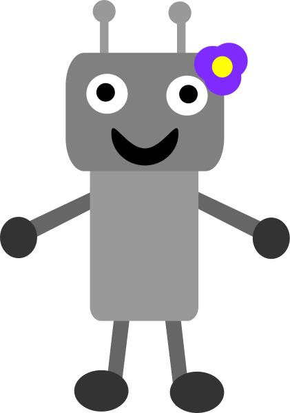Girl robot clipart clipart kid 4.