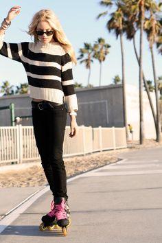 Girl & Skates #aggressive #rollerblade.