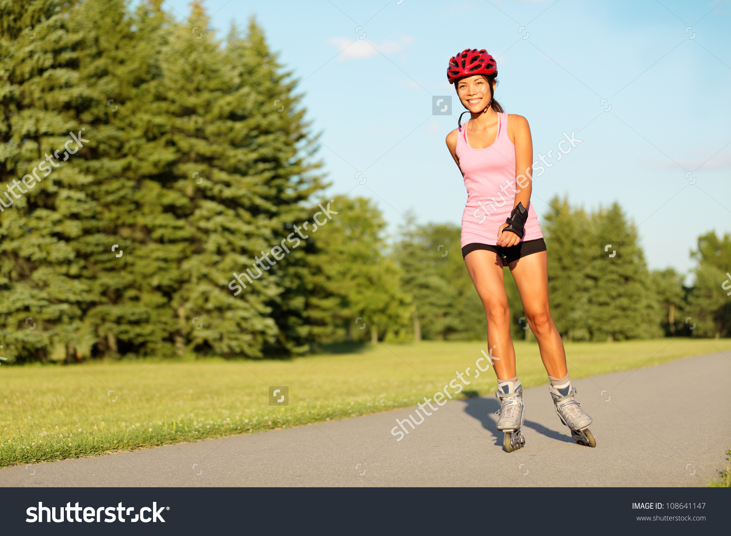girl rollerblading clipart with no splash #16