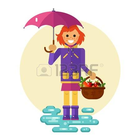 Girl Is Very Cold Clipart With No Coat.