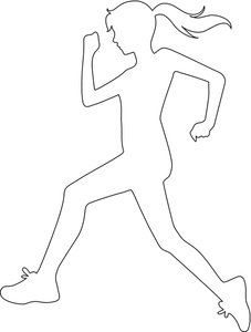 Running Clipart Image.