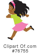 Girl Running Clipart #1.
