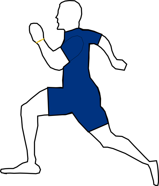 People Running A Race Clipart.