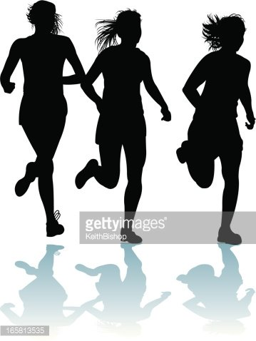 Girls Running.