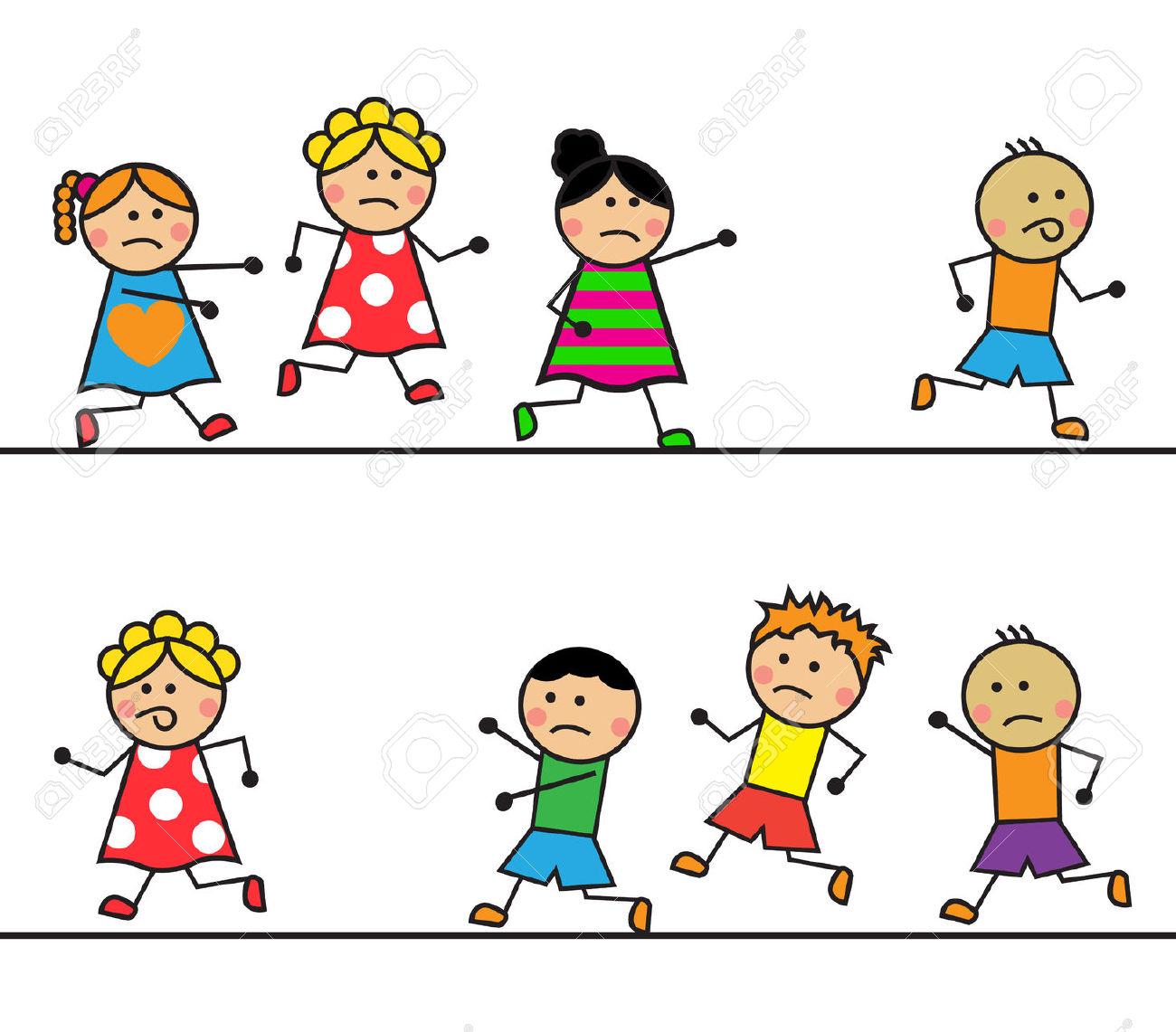 Showing post & media for Running from boy girl cartoon.