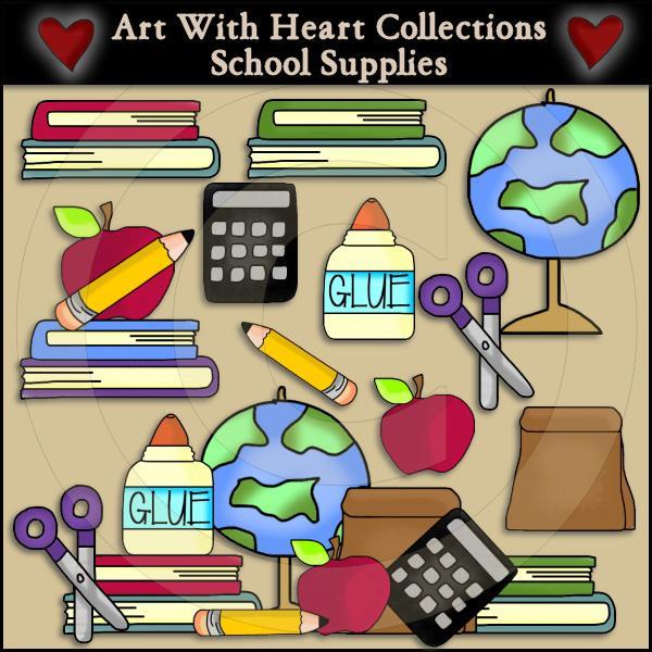 Cute School Supplies Clipart (78+).