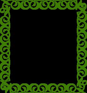 Green Border clip art.
