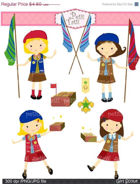 Girl scout bridging clip art.