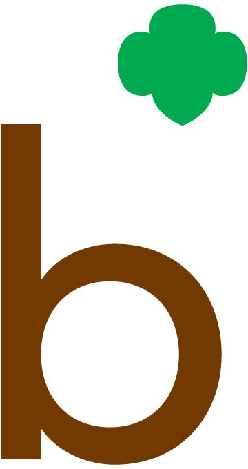 Girl Scouts Brownies Logo Or brownie shorthand logo.