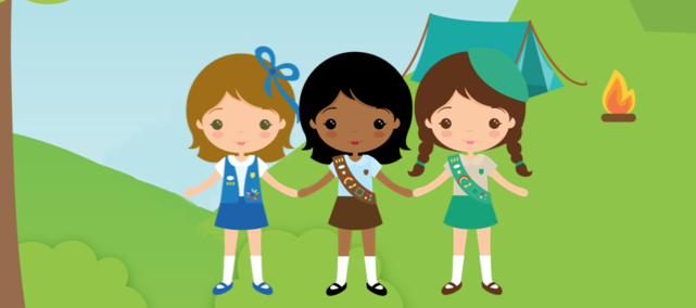 Girl Scout Camping Clipart.