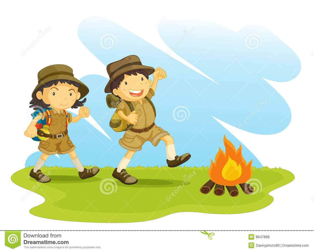 girl scout camping clipart clipart lil girl scouts. girl.