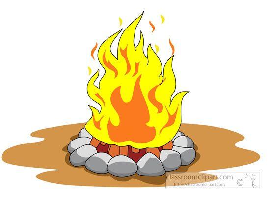 Campfire Girl Scout Clipart.