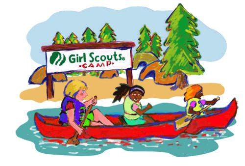 Archery clipart camp girl scout, Archery camp girl scout.